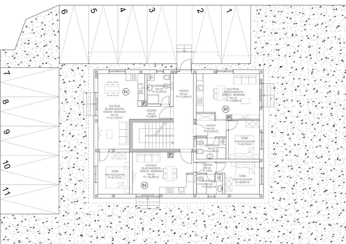 Edificio A appartamento Pino Terra