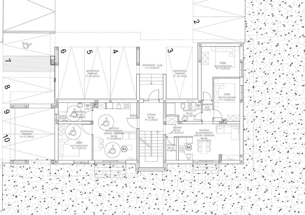 Edificio B appartamento Pino Terra
